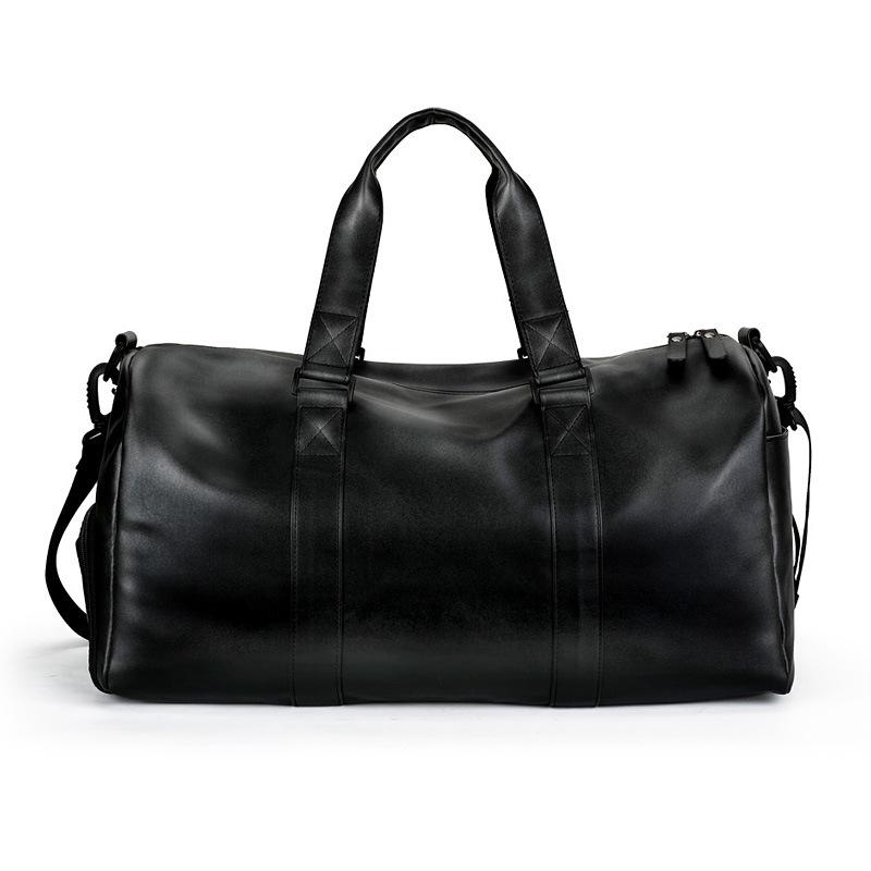 Entreprise de mode en gros hommes en cuir de vachette sac de voyage week-end sac de bagages de sport avec compartiment à chaussures indépendant