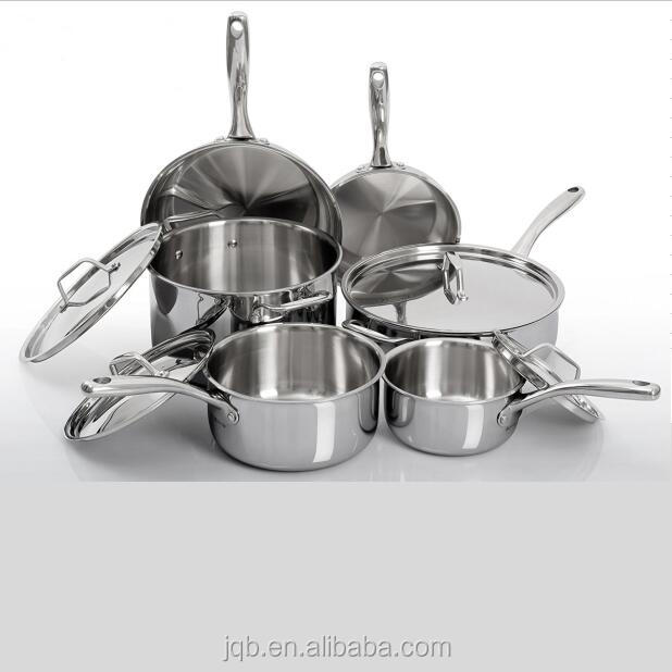 Direct manufacturer 10 Pcs Stainless Steel Induction Cookware Set
