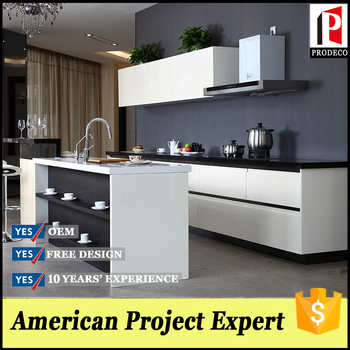 2017 White Lacquer Free Used Kitchen Cabinets With Island And Sideboard
