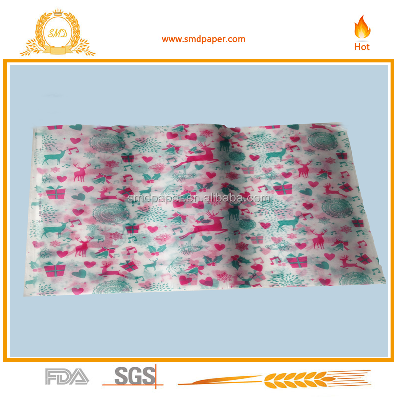 "10""*10"" printed Hamburger candy wrapping wax paper 500pcs/bag"
