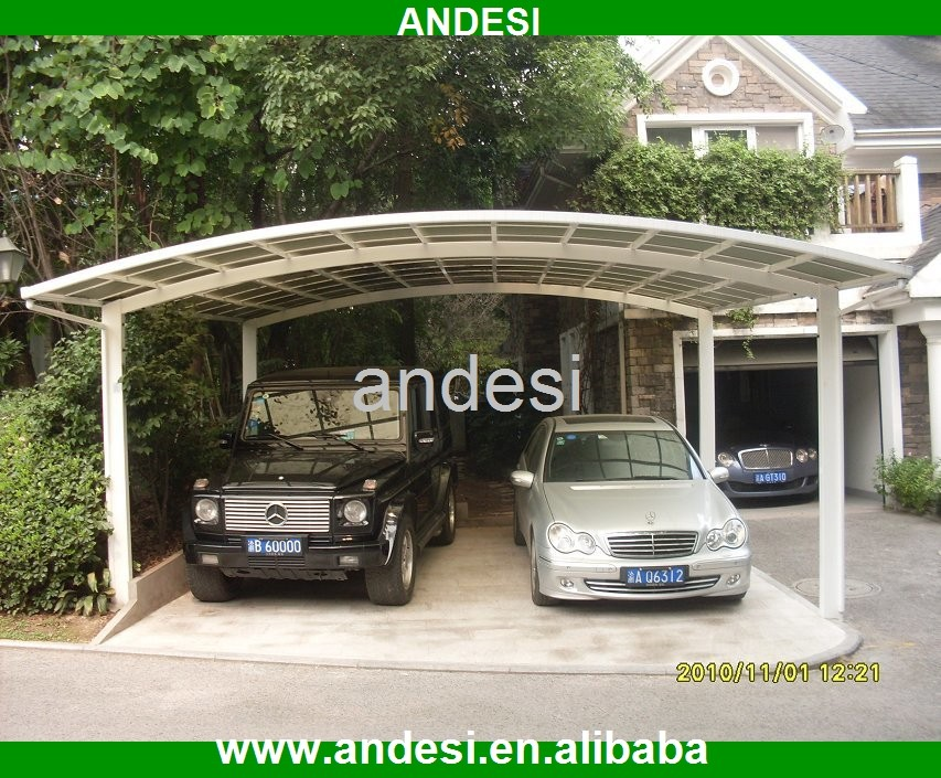 Doble cochera canopy cobertizo coche para el jard n for Carport size for 2 cars