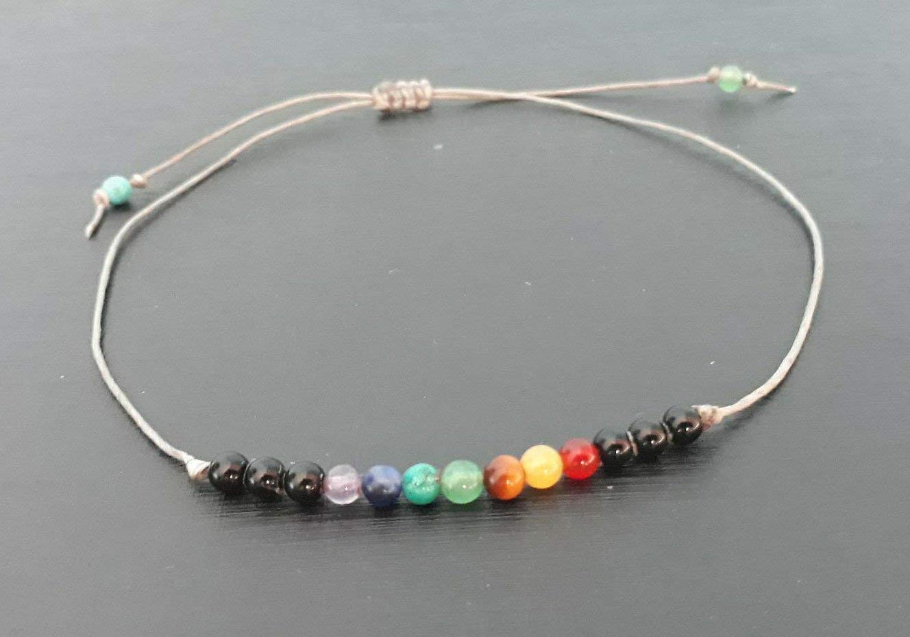 Chakra anklets,stone anklets,multi color stone anklets,men anklets,women anklets,men anklets,women anklets,friendship anklets,fashion anklet