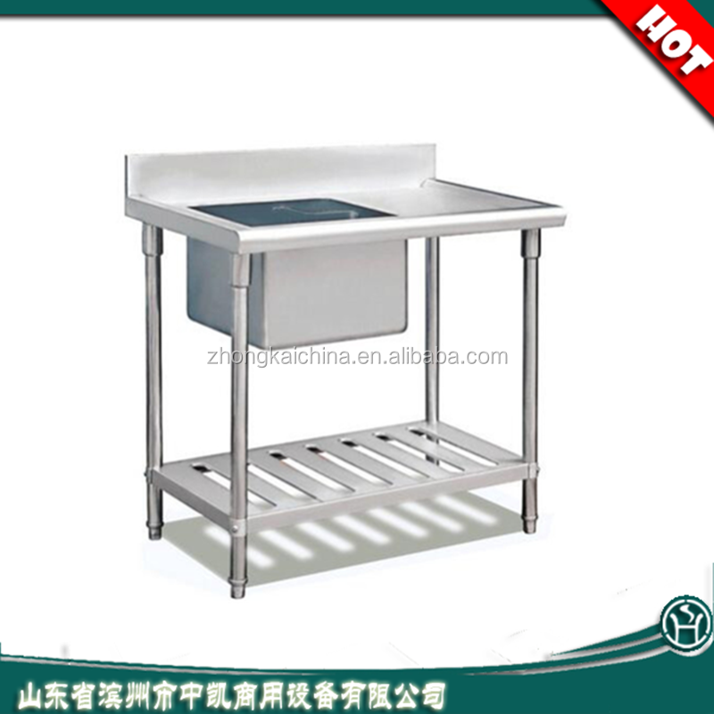 Custom Size Free Standing Outdoor Sink Kitchen Stainless