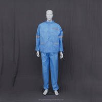 OEM 2 piece safety work clothing disposable non woven overalls