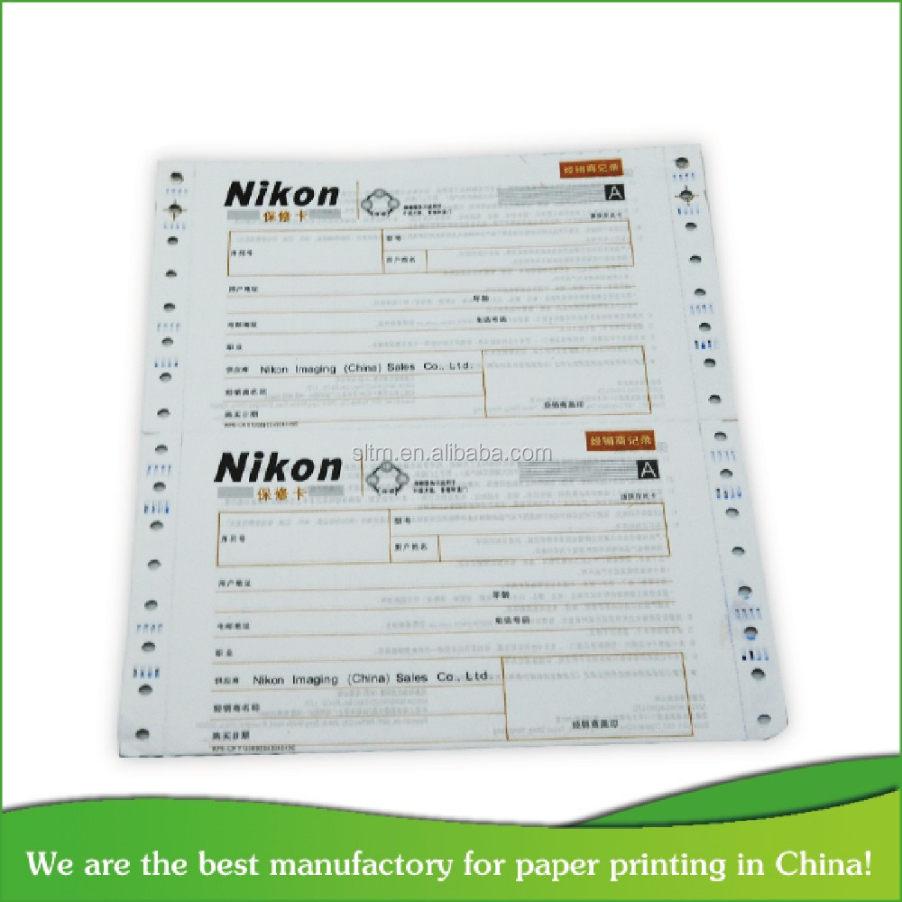 Attractive and durable continous computer printing paper
