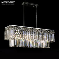 MEEROSEE Lustres De Cristal Luxury Lamps for Living and Dining, Chandelier Crystals for Wedding Decoration MD83006