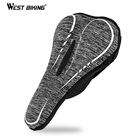 WEST BIKING Thick Sponge Bike Saddle Cover Comfortable Seat Pad Soft Cycling Cushion Seat Cover For MTB Road Bike Accessories