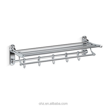 Bathroom Accessories Stainless Steel Wall Folding Towel Racks With
