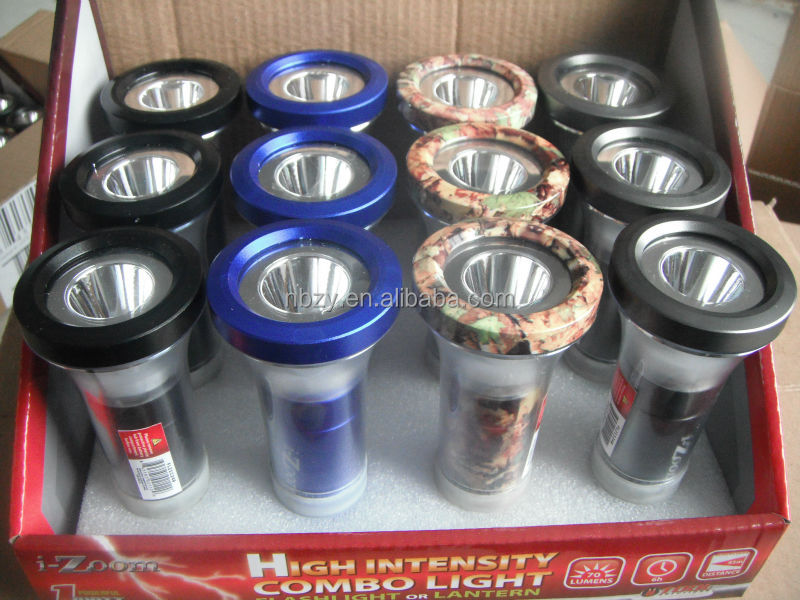horn shape 1W Aluminum camping wholesale metal lanterns new products 2014 lamps and lanterns use 3*AAA battery