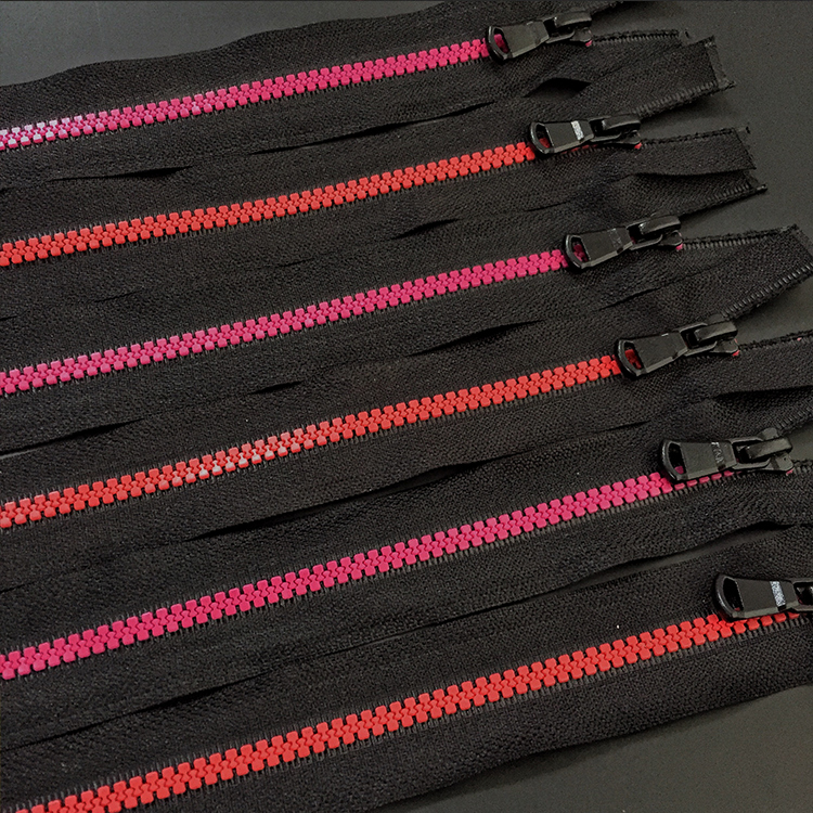 5# 7# Custom colour length waterproof open end resin zipper for tent cycling cloth wear