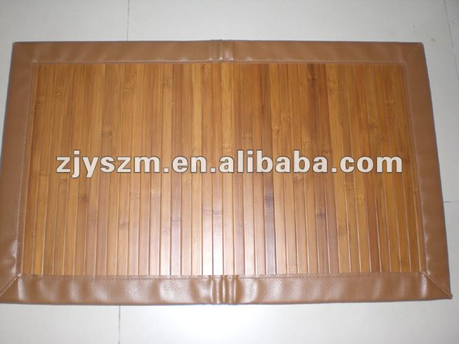 plain ande smooth surface bamboo mat