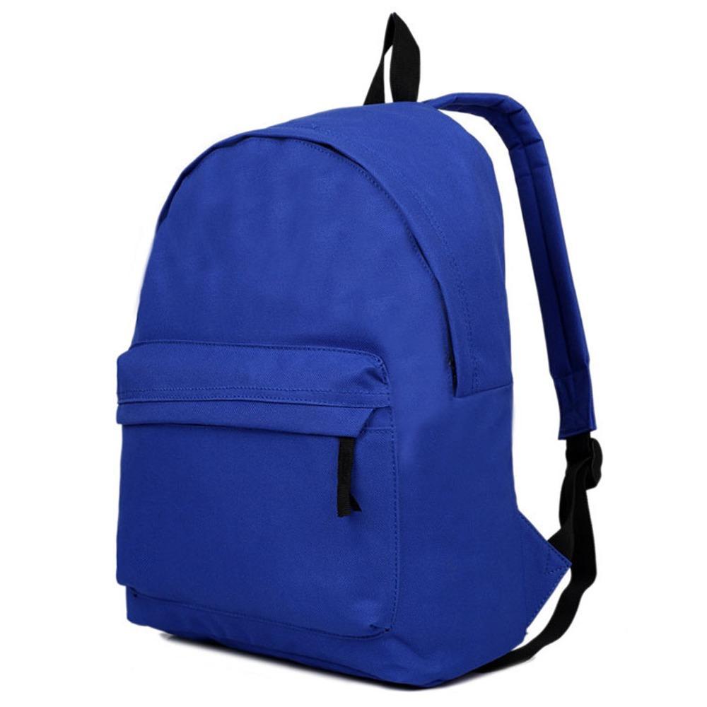 1f60059a9841 Get Quotations · Women Men Plain Backpack College School Work Travel  Weekend Picnic Rucksack Shoulders Bag