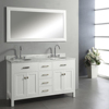 60 Inches Oak Wood Floor Standing Transitional Bathroom Vanity Cabinet with Double Sinks