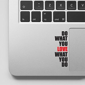 Do what you love Motivational Inspirational Quote personalize Laptop Palm Sticker Decal Skin For Macbook
