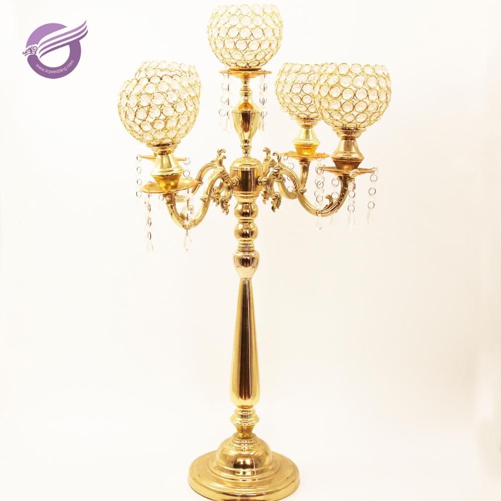 ZT02610S-3  wholesale Crystal wedding table decoration centerpiece candelabra