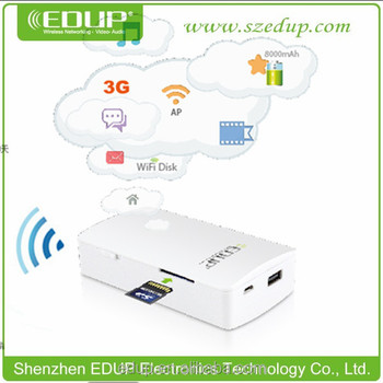 EDUP 3g lan modem all-in-one function with RJ45 port and SD card slot