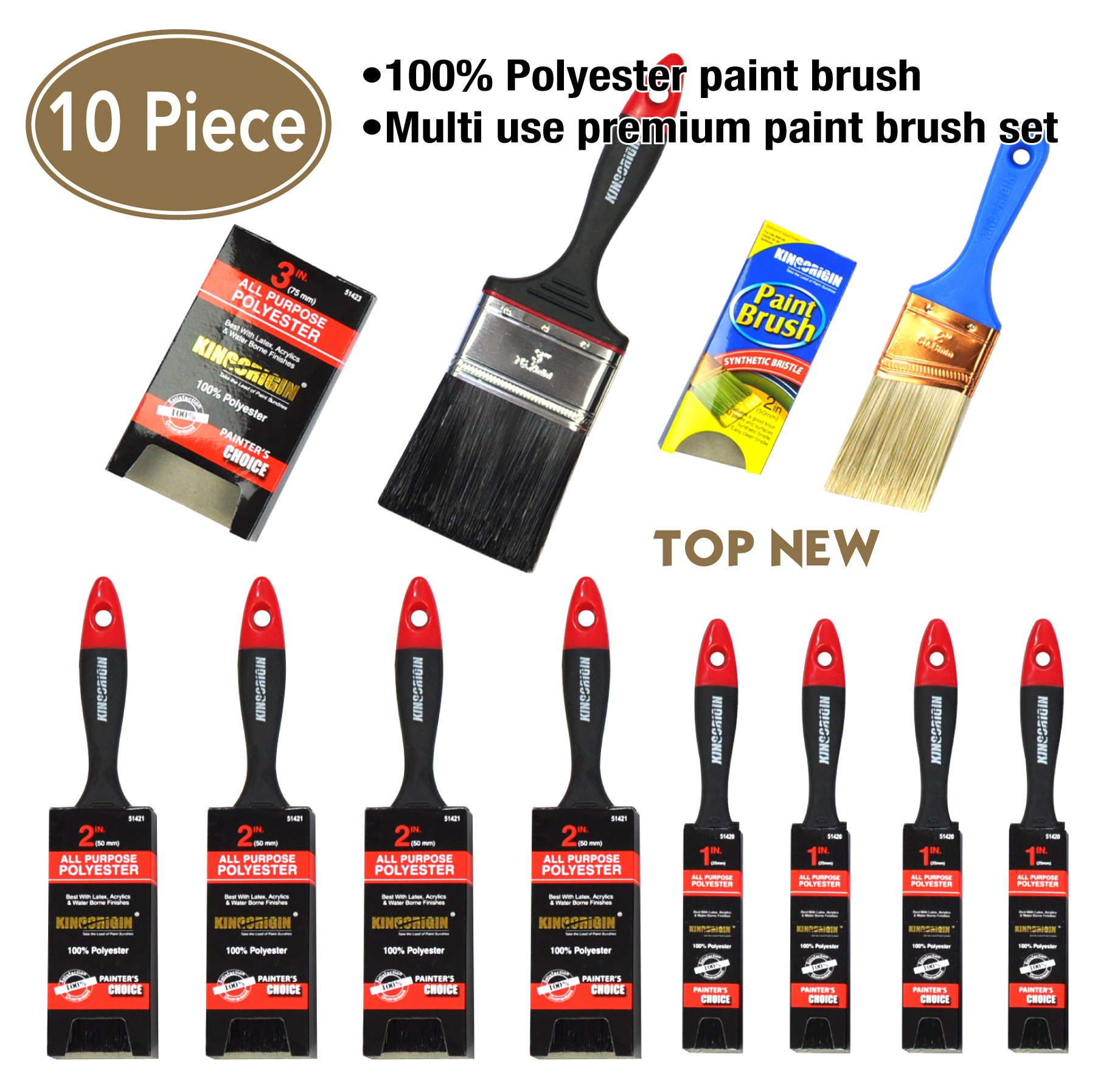 10 Piece Professional painters Soft Grip handle multi use,paint brush,paint brushes,paint brush for kids,paint brush set,angle sash paint brush,home repair tools,tools