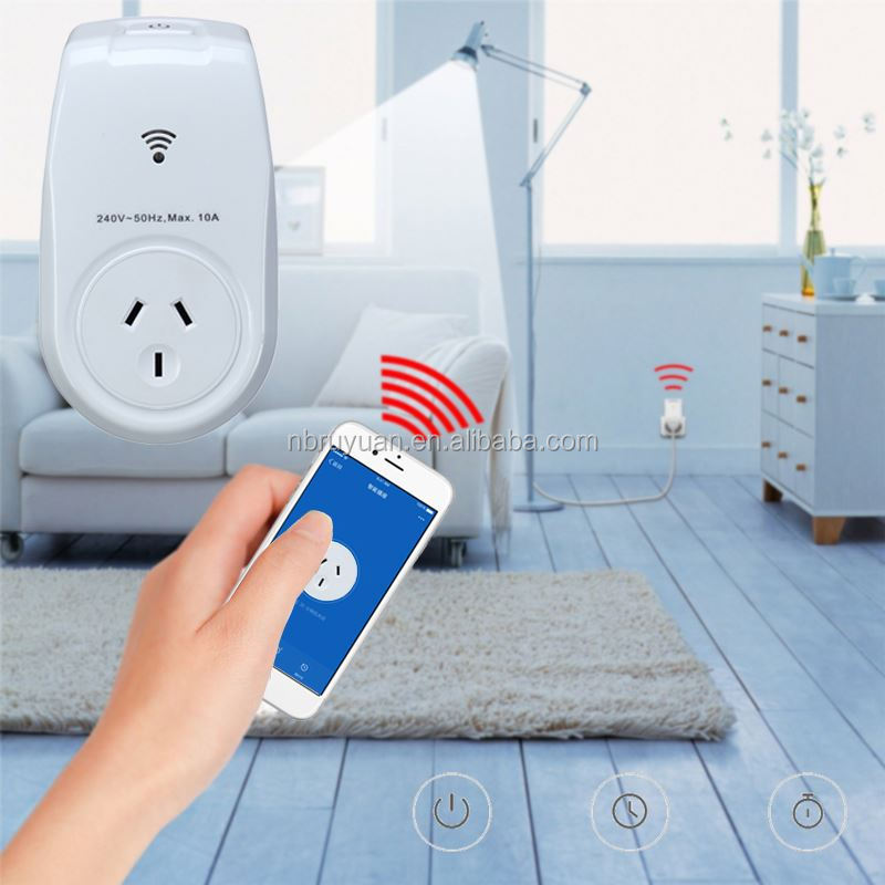 0930001 Wi-Fi Smart computer controlled power socket Outlet Plug Turn ON/OFF Electronics from Anywhere