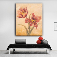 House decor modern flower bright wall picture oil canvas paintings