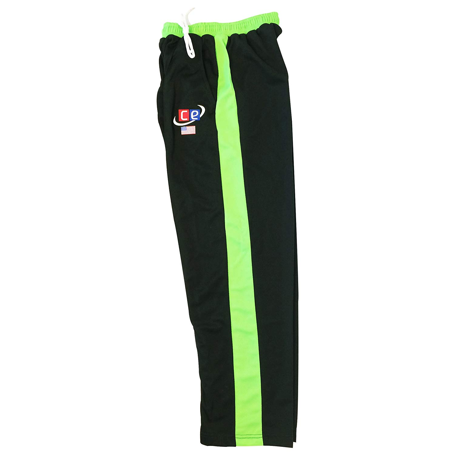 CE Colored Cricket Kit Shirts & Pants - Pakistan Colors Lime & Forest Green- Half Sleeves (Pants, Small)