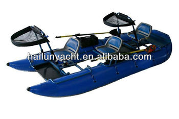 Inflatable small pontoon fishing boat for sale buy for Inflatable fishing boats for sale