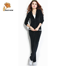 Big yards S-4XL velvet track suit, leisure suit female sport suit women Hot sales New 2014 Sweatshirt Hoodies Pullovers Coat