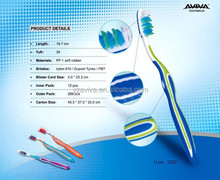 color changing custom soft rubber adult toothbrush