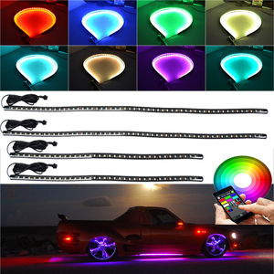 RGB Car Under Underbody Lights LED underglow Strip Light 12V 24V Car Truck Glow Flexible RGB strips Neon RGB LED Strips