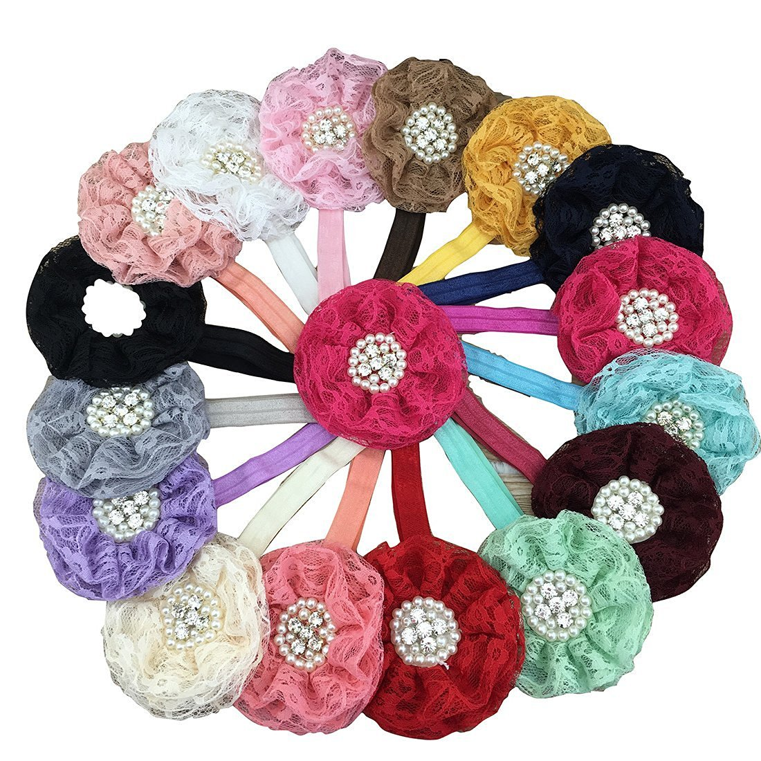 Buy Xima 16pcs 35 Lace Flower Headbands Lace Flower For Baby