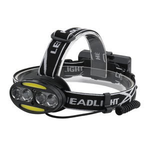 Sensor Headlamp COB Waterproof USB Recharge Head lamp with 18650 Lithium Battery