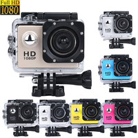 2.0 inch Cheap Action Digital Camera Camcorders Sport Cam 1080P HD Waterproof 30M Helmet Cameras Diving Sport DV