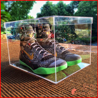 Acrylic Shoe Box Nike Sneakers Display Storage Box with Customized Logo