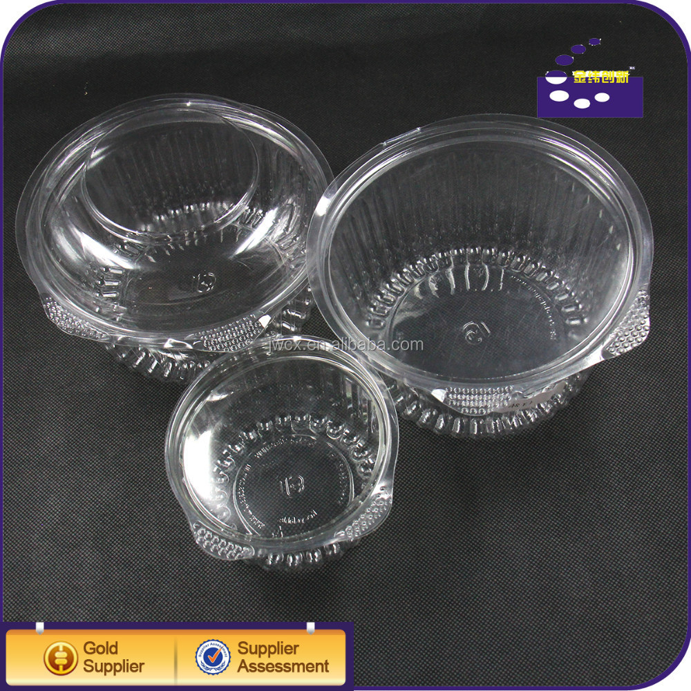 Eco-friendly transparent plastic disposable food container for cake