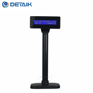 Wide Viewing Angle Height Adjustable Pole Display VFD Customer Display for Retail and POS