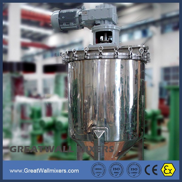Industrial Viscous Fluid Applications of Glue Adhesive Polymers Mixers Agitator