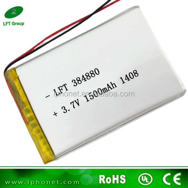 Non Removable Li Po Accu 384880 3 7v 1500mah Lithium Polymer Battery