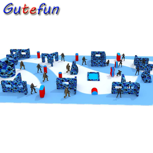 corporate team building events archery tag games field arena inflatable war bunker paintball