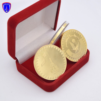 Qatar The National Day 24K gold coin holder souvenir metal challenge medallion coins supplier