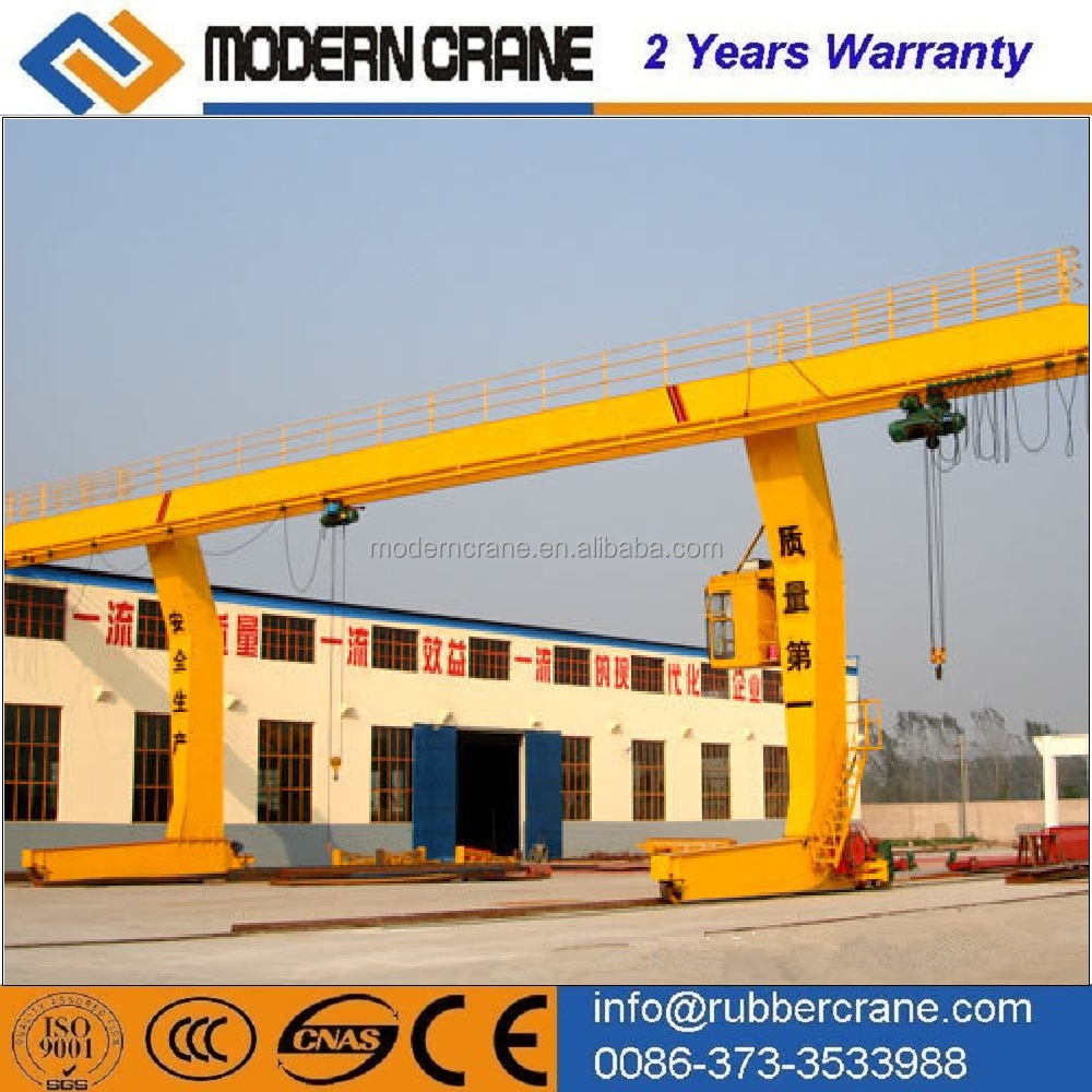 China Crane hometown producing L type gantry crane with hook and hoist