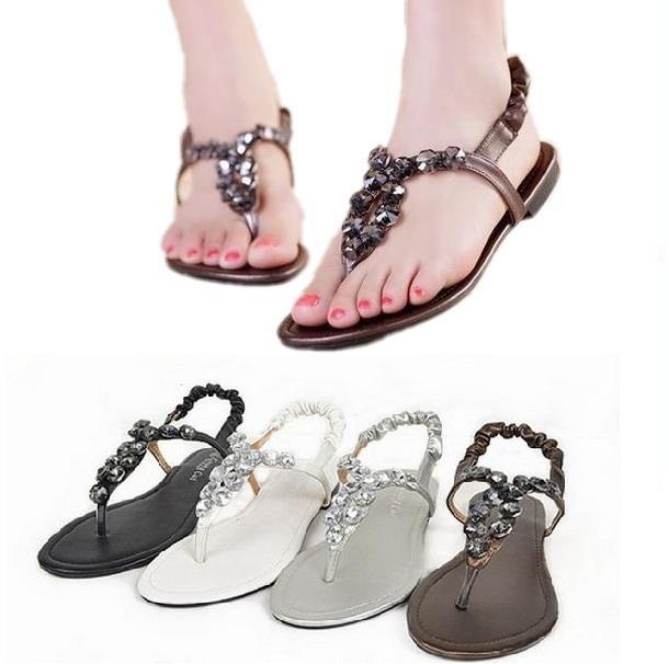 780e42c48 Get Quotations · Hot Sale Women Sandals 2015 Plus Size EUR 34-43 Crystal  Sandalias Gold Black Silver