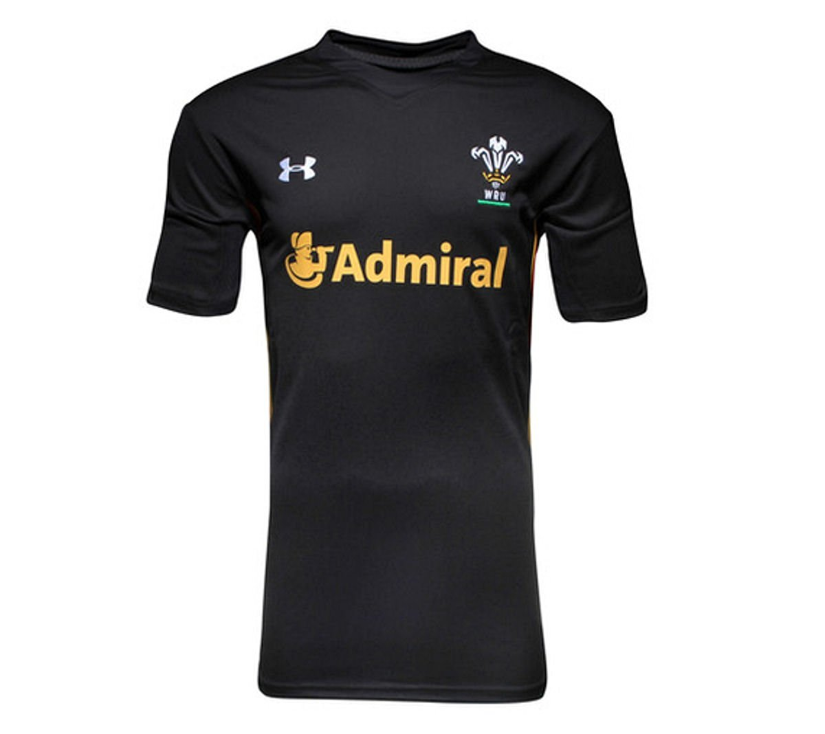 e948fef35a47 Get Quotations · 2015-2016 Wales Rugby WRU Supporters Training Shirt (Black)