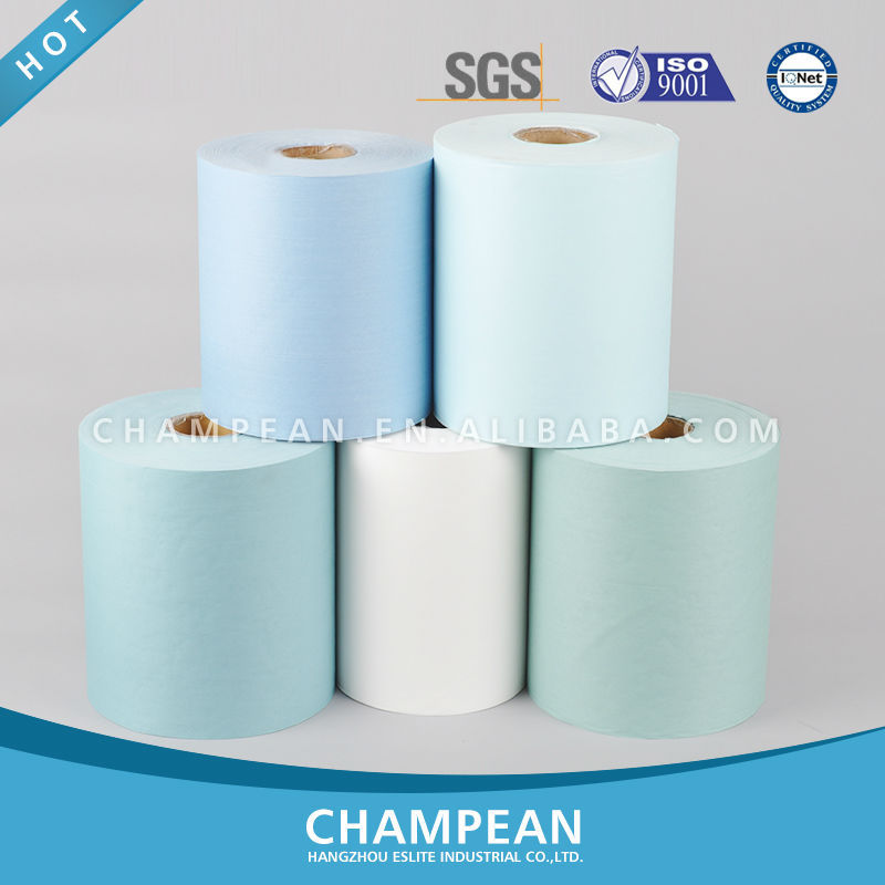 2015 CE certificated high quality disposable spunlace nonwoven facial wipes roll