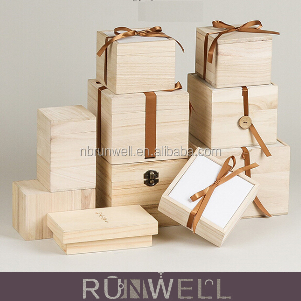 New Products online shopping nature pine wood wholesale high quality unfinished wooden box for <strong>gift</strong>