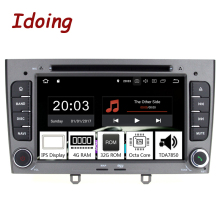 "Idoing 7 ""2 <span class=keywords><strong>din</strong></span> IPS screen car multimedia player per Peugeot 308 408 <span class=keywords><strong>Risoluzione</strong></span> Octa-Core Sistema di Android8.0 4G + 32G di Navigazione GPS"