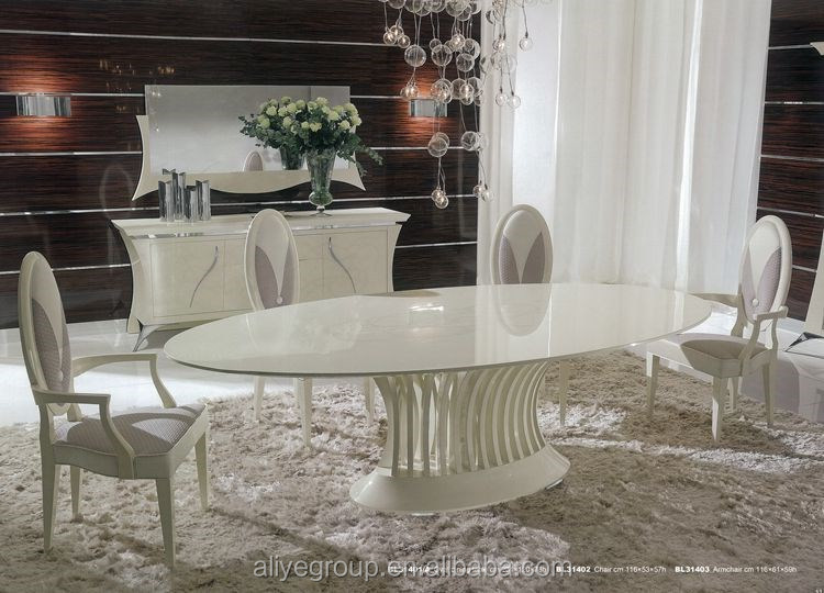 Bl31401a New Clic Oval Dining Table 6 Seater Sets Latest Italian Designs