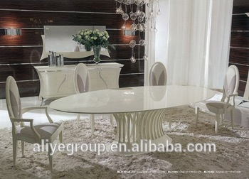 BL31401A New Classic Oval Dining Table 6 Seater Dining Table Sets Latest  Italian Dining Table