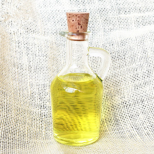 3oz clear cheap cooking olive oil glass bottle for soy sauce vinegar ketchup with cork and ear handle100ml