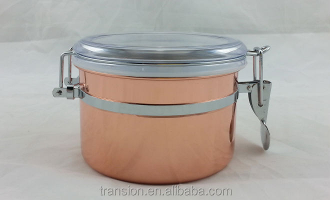 Stainless Steel Kitchen Canister,Stainless Steel Airtight Canister ...