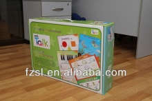 LPCB001 white paper carrier box with plastic handle