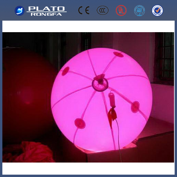 Gaint Inflatable ceiling led lighting ball/hanging ball for event and stage
